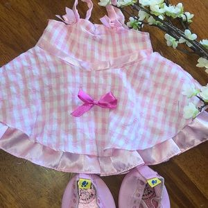 Build a Bear Pink Party dress with Shoes